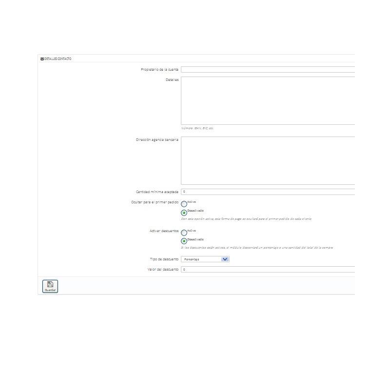 modul zahlung per bank berweisung mit rabatt und einschr nkungen nach der menge der bestellung. Black Bedroom Furniture Sets. Home Design Ideas