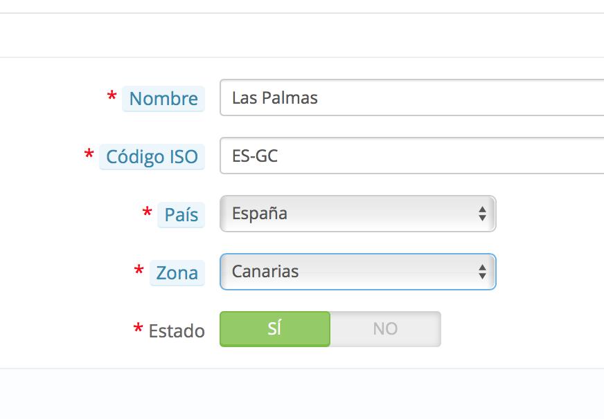 prvincia las palmas nueva zona canarias