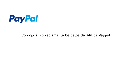 API data configure for Paypal