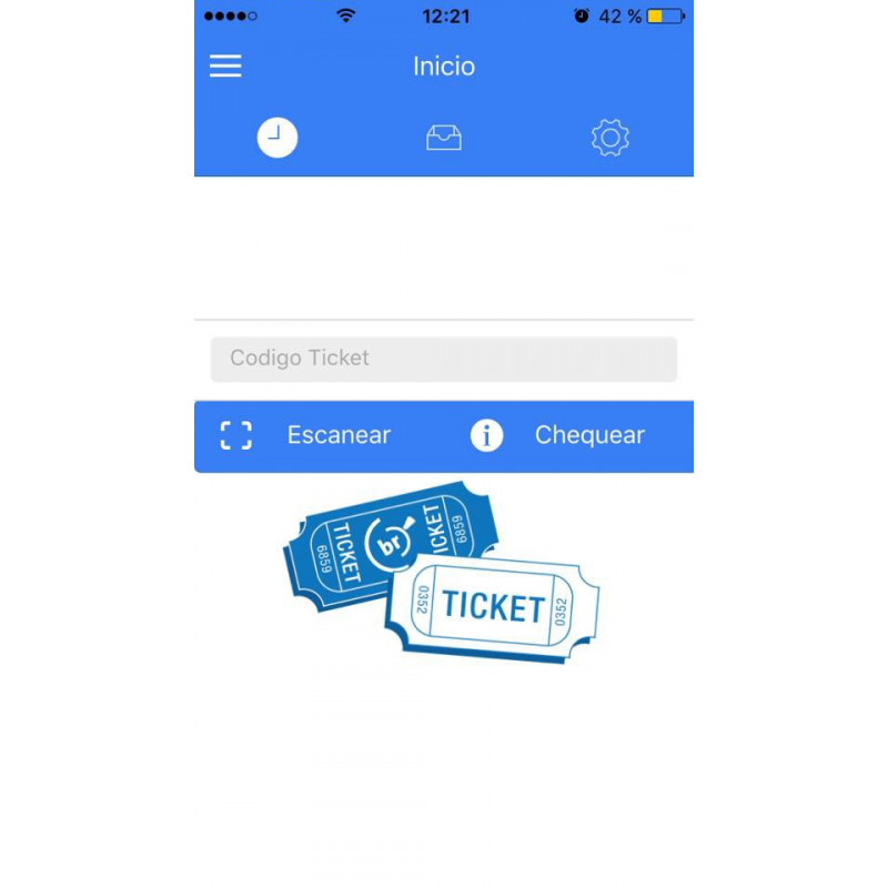 Module to validate tickets via mobile phone