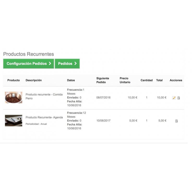 Compra Productos Recurrentes