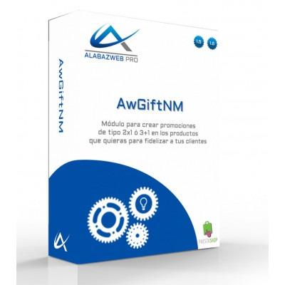 Module AwGiftNM des offres et des promotions 2 x 1, 3 x 2,... nxM, n + m