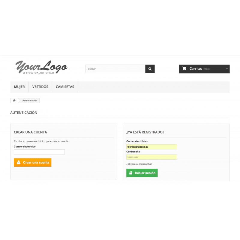 Modulo tienda privada para PrestaShop