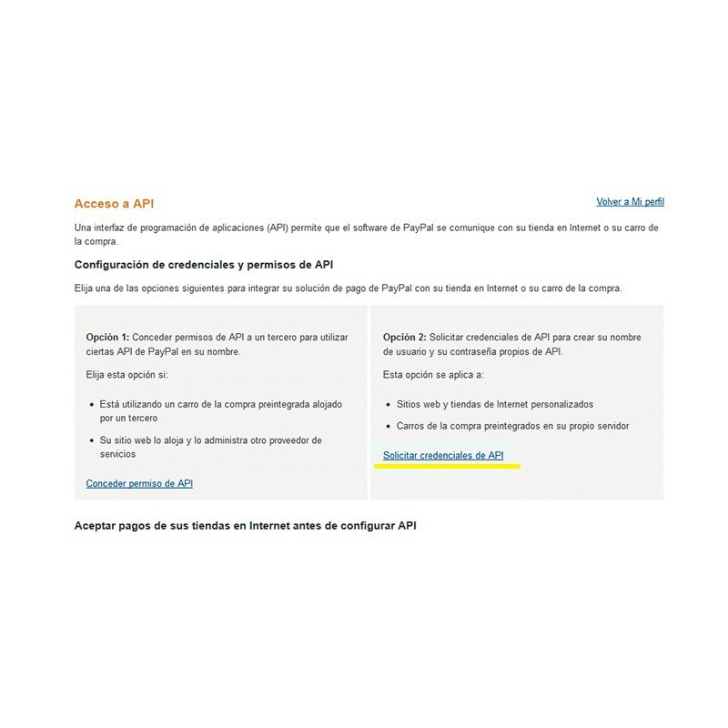 Credenciales API AWPaypal para Prestashop 1.6