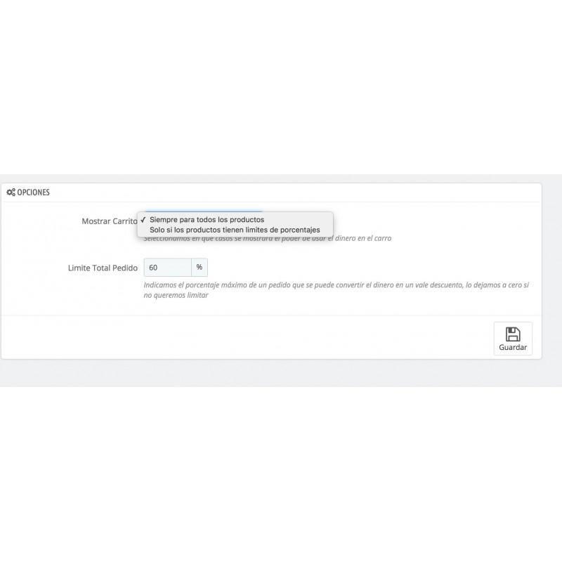 Emoney: Configuracion general