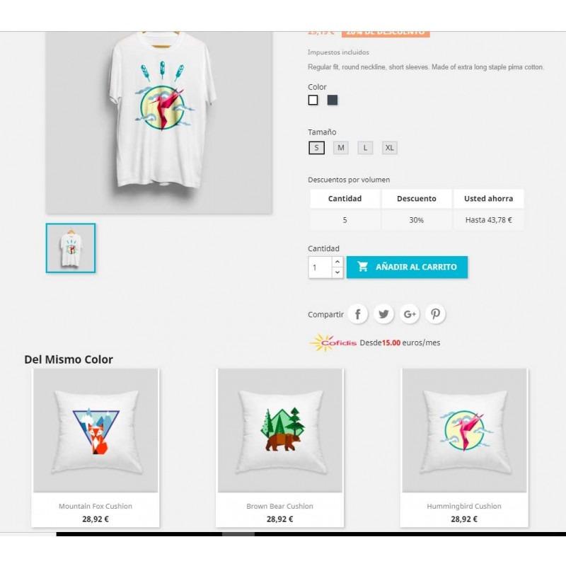 Módulo para mostrar productos relaciones por color