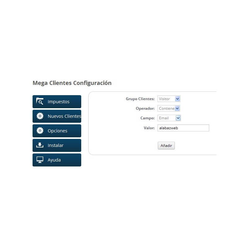 Módulo para aplicar el recargo de equivalencia correspondiente: Configuración