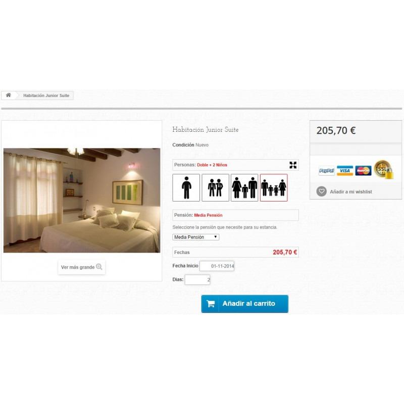Reservierungen-Modul und Verkauf von Dienstleistungen für PrestaShop