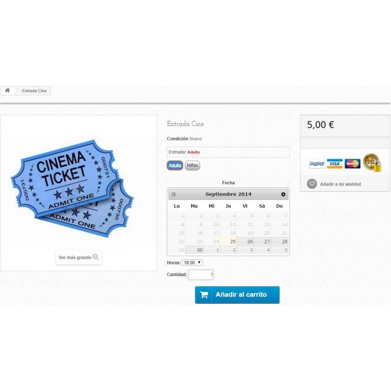 Modulo di prenotazione e vendita di servizi per PrestaShop