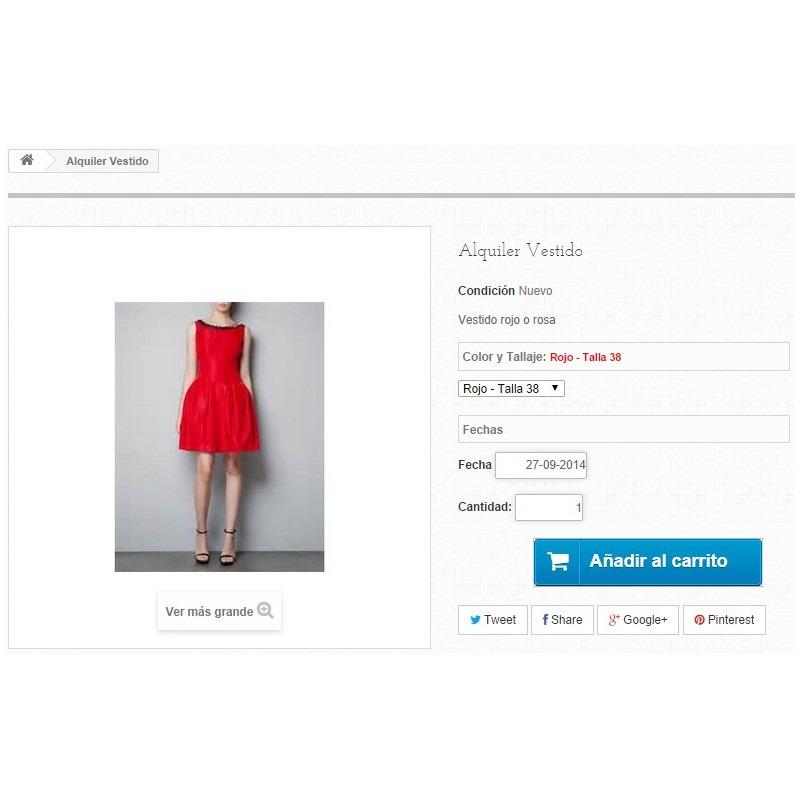 Módulo Megaservices para Prestashop: Alquiler de vestidos