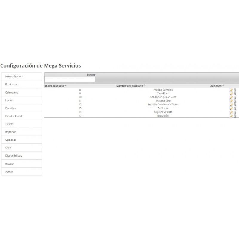 Módulo Megaservices para Prestashop: Configuración