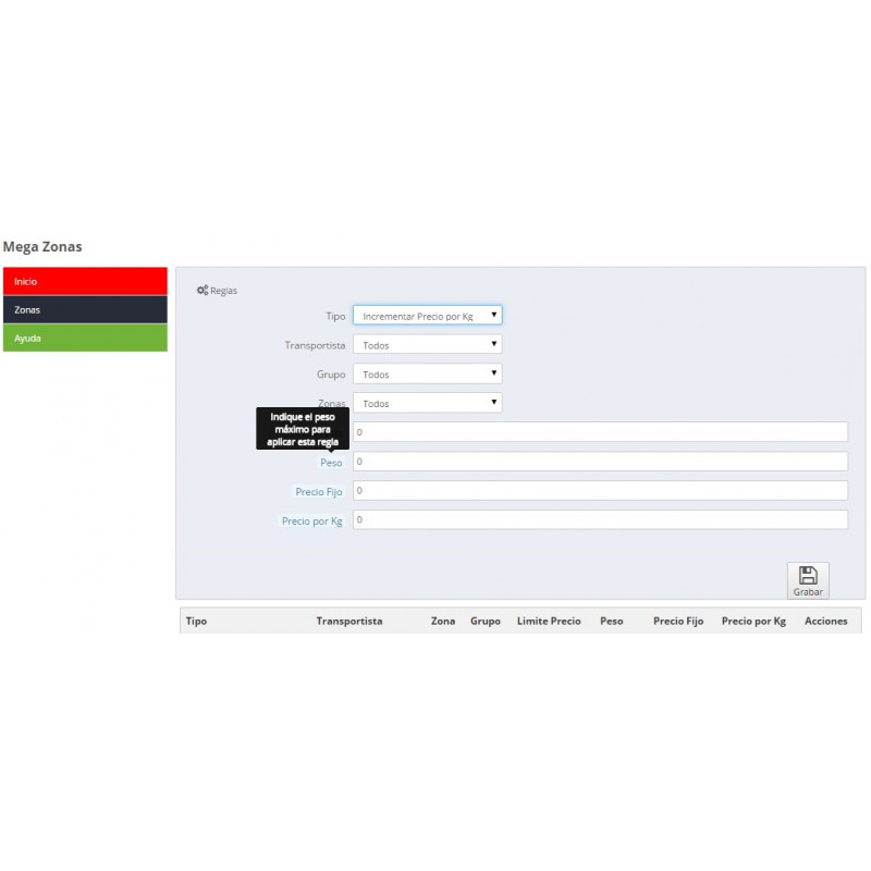 Module to manage free shipping by area