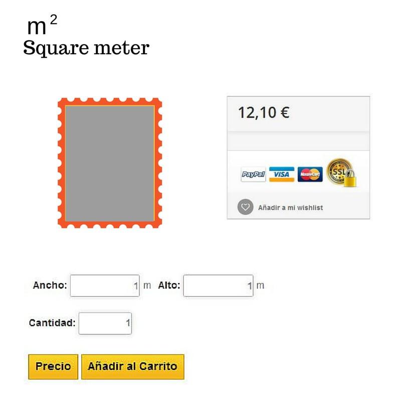 Módulo Megaproduct: Venta de Productos por m2 - Prestashop