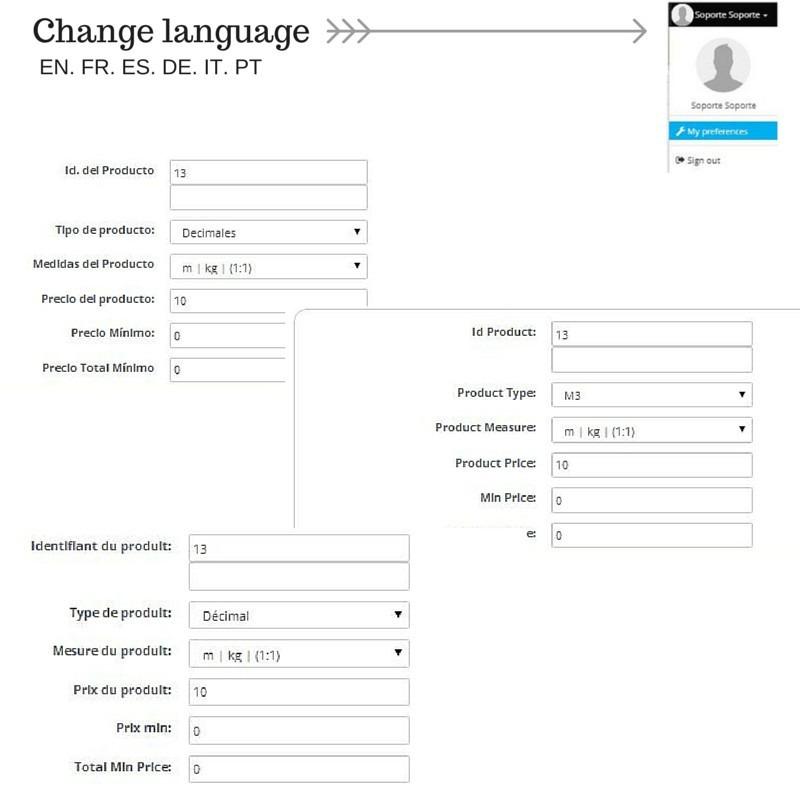 Módulo Megaproduct: Selección de idioma - Prestashop