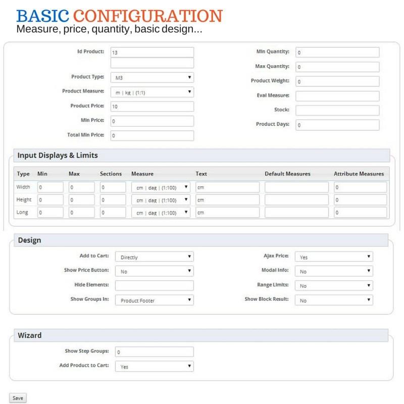 Configuración Módulo Venta de productos por m2, m3, lineales y decimales - Prestashop