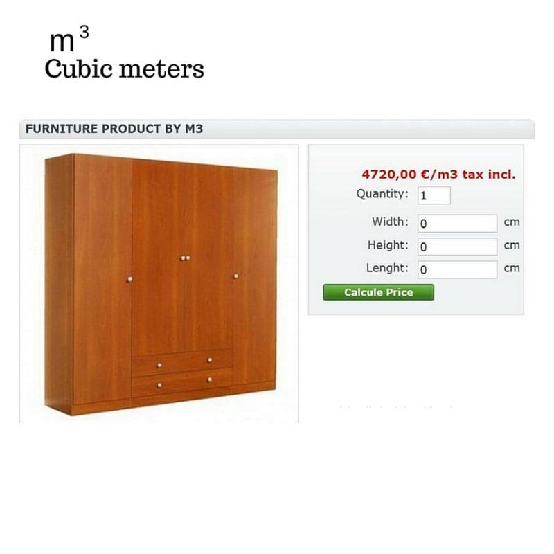 Módulo Megaproduct: Venta de Productos por m3 - Prestashop