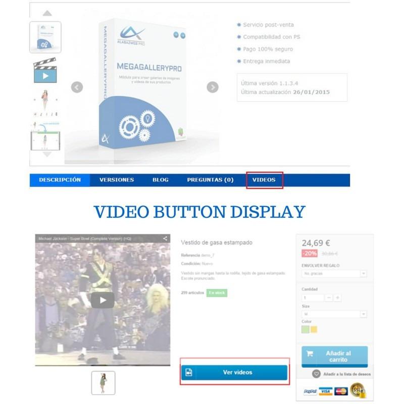Módulo de vídeos e imagenes para Prestashop