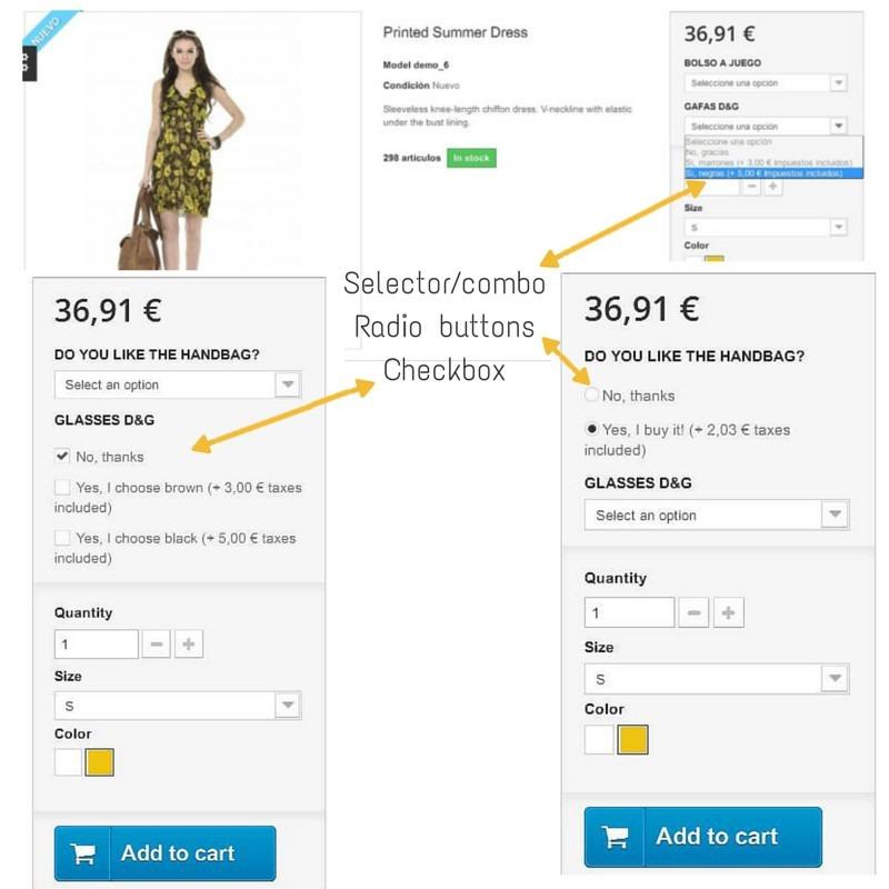 Gebühren für Produkte in Prestashop Modul