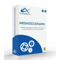 Module's dictionary to add information additional on their products