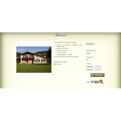 Web para casas rurales con opción de reserva online