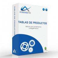 Modulo para crear tablas de productos ( Complemento Megaproduct)
