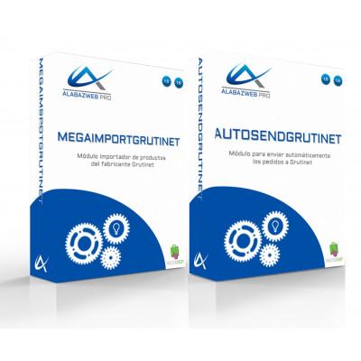 Pack Importador de productos de Grutinet y Módulo de envío automático de pedidos a Grutinet para Prestashop