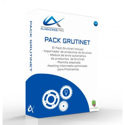 Pack Grutinet con Importador de Productos, Exportador de Pedidos, Plantilla y Hosting Intermedio para Prestashop 1.6 o 1.7