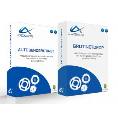 Pack Importador de productos y envío automático de pedidos a Grutinet Drop para Prestashop