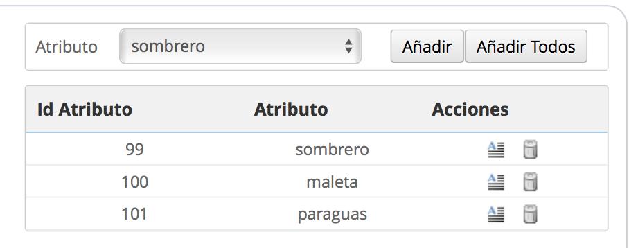 tabla añadir valores megaservices