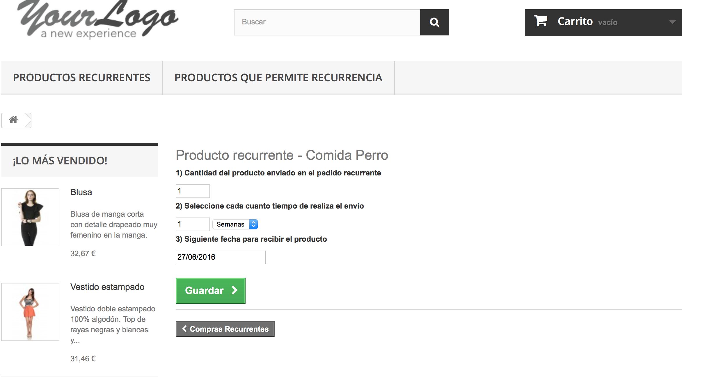 el cliente podra cancelar el producto y modificarlo desde el area de cliente