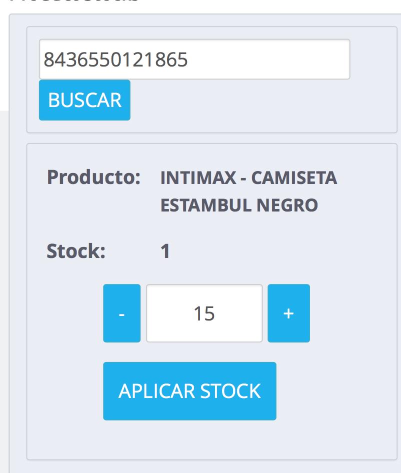 Aumentar el stock de un producto concreto con awstockorder