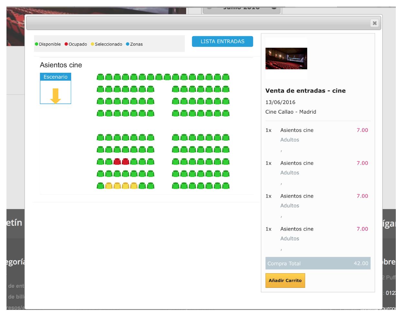 el cliente podrá escoger el asiento que quiera de los disponibles