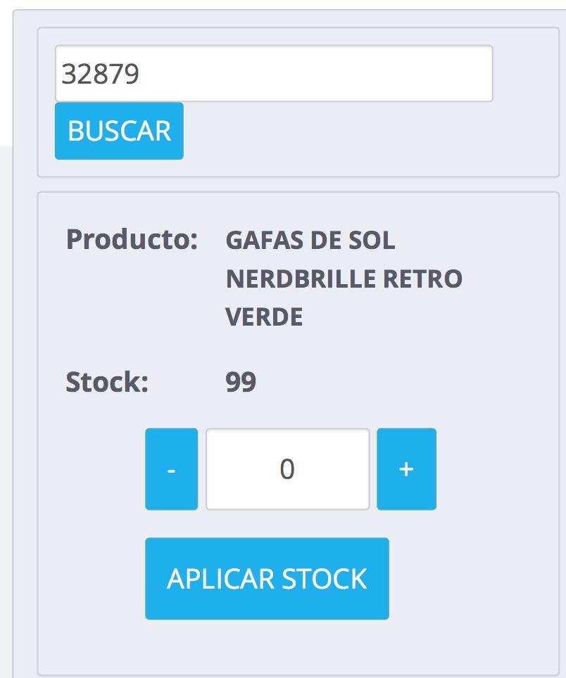 cantidad actualizada al restar stock cuando recargas la referencia