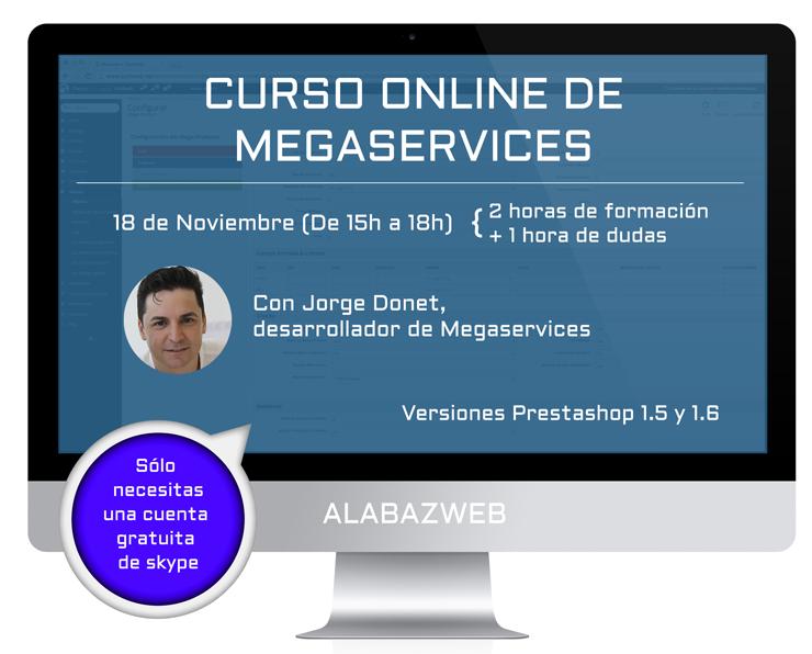 Cartel curso megaservices con informacion extra