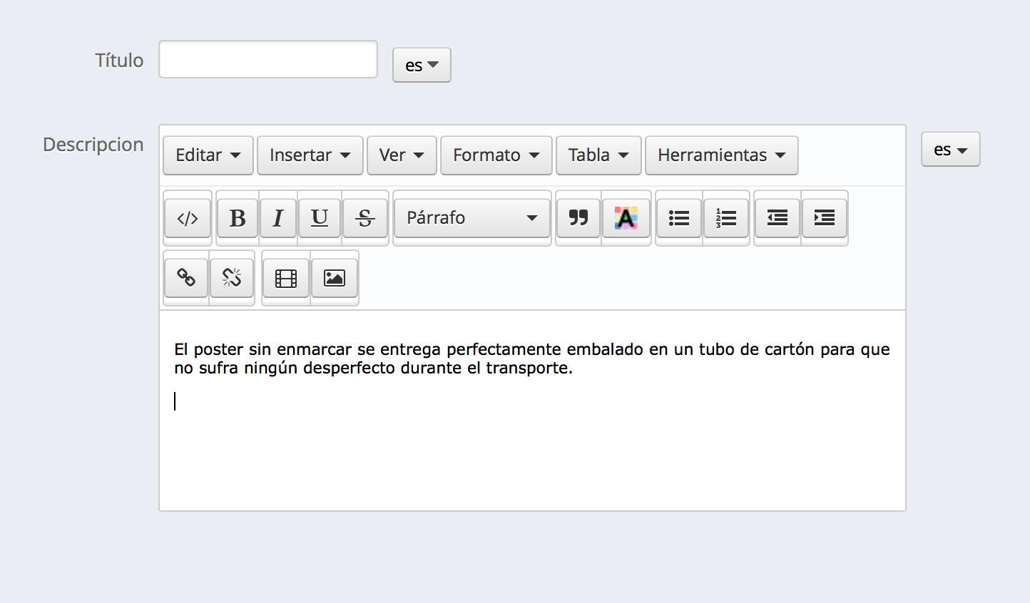 Descripción de la ayuda tooltip en un atributo