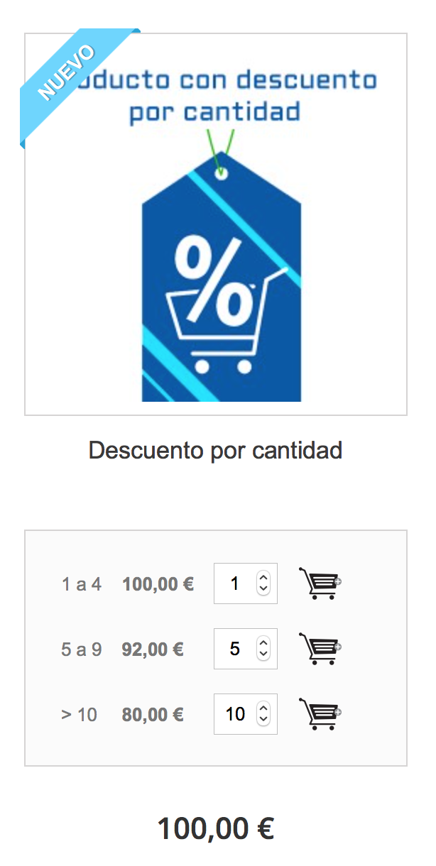 you can apply a discount based on the quantity of product that the customer selects