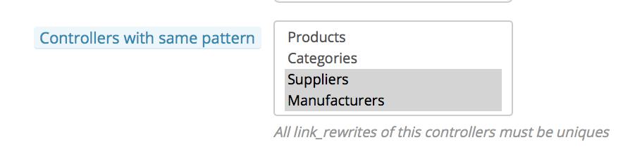 utiliza un mismo patron para productos y categorías o proveedores y fabricantes