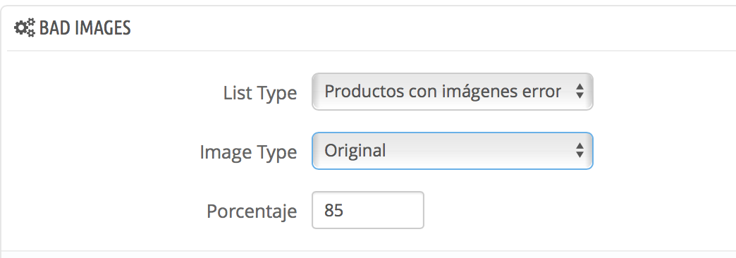 filtra las imagenes por el porcentaje de blanco