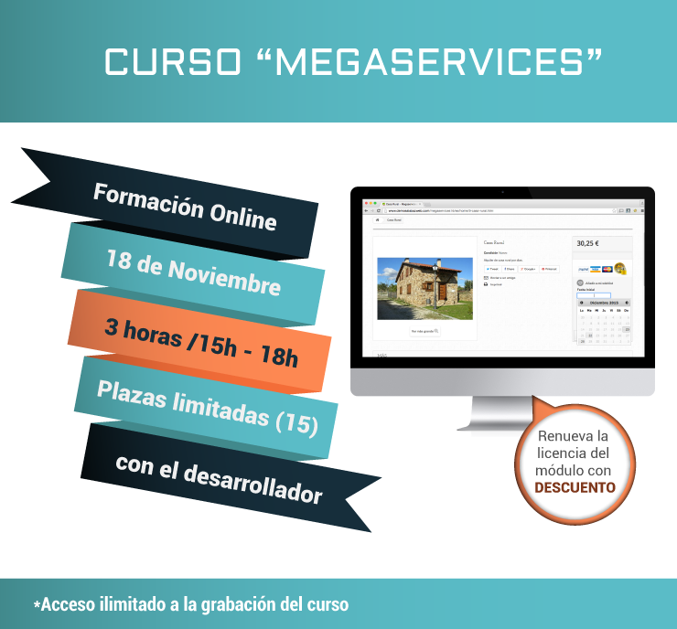 Cartel curso megaservices informacion básica