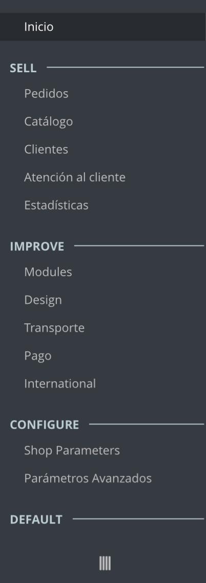 el menu de ps 1.7 es mas compacto