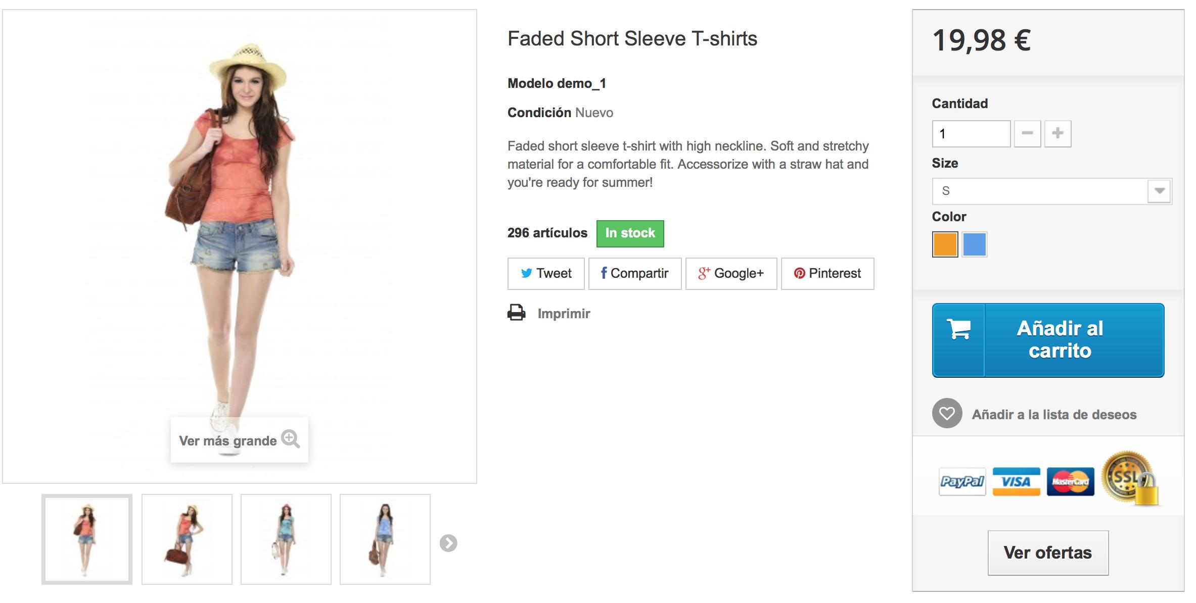 el cliente verá la oferta 2x1 en la pagina del producto