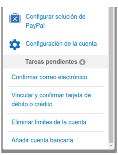 you set up your PayPal account options
