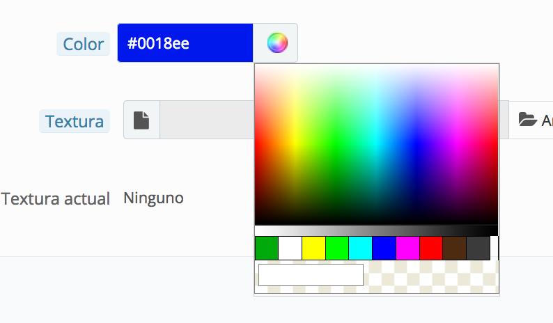 zeigt den hexadezimalen-Code, oder wählen Sie die Farbe des Wertes