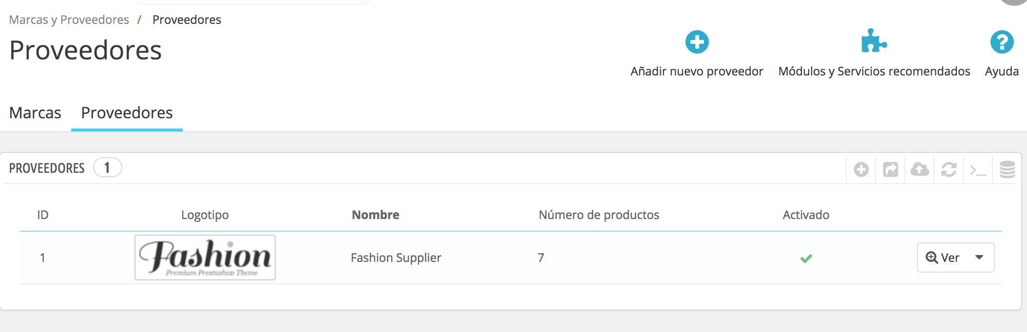 Fügt hinzu, ändert, importiert oder exportiert Lieferanten aus der Liste