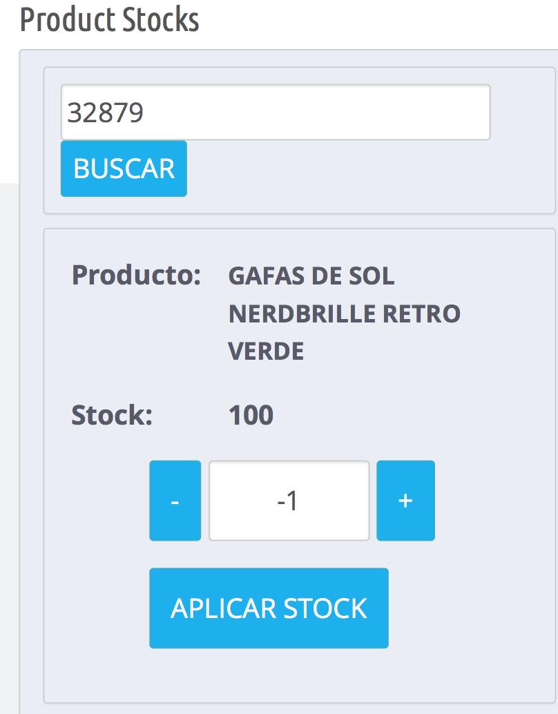 disminuir stock de un producto directamente con awstockorder