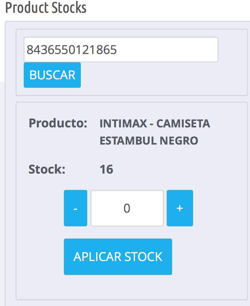cantidad actualizada al sumarr stock cuando recargas la referencia