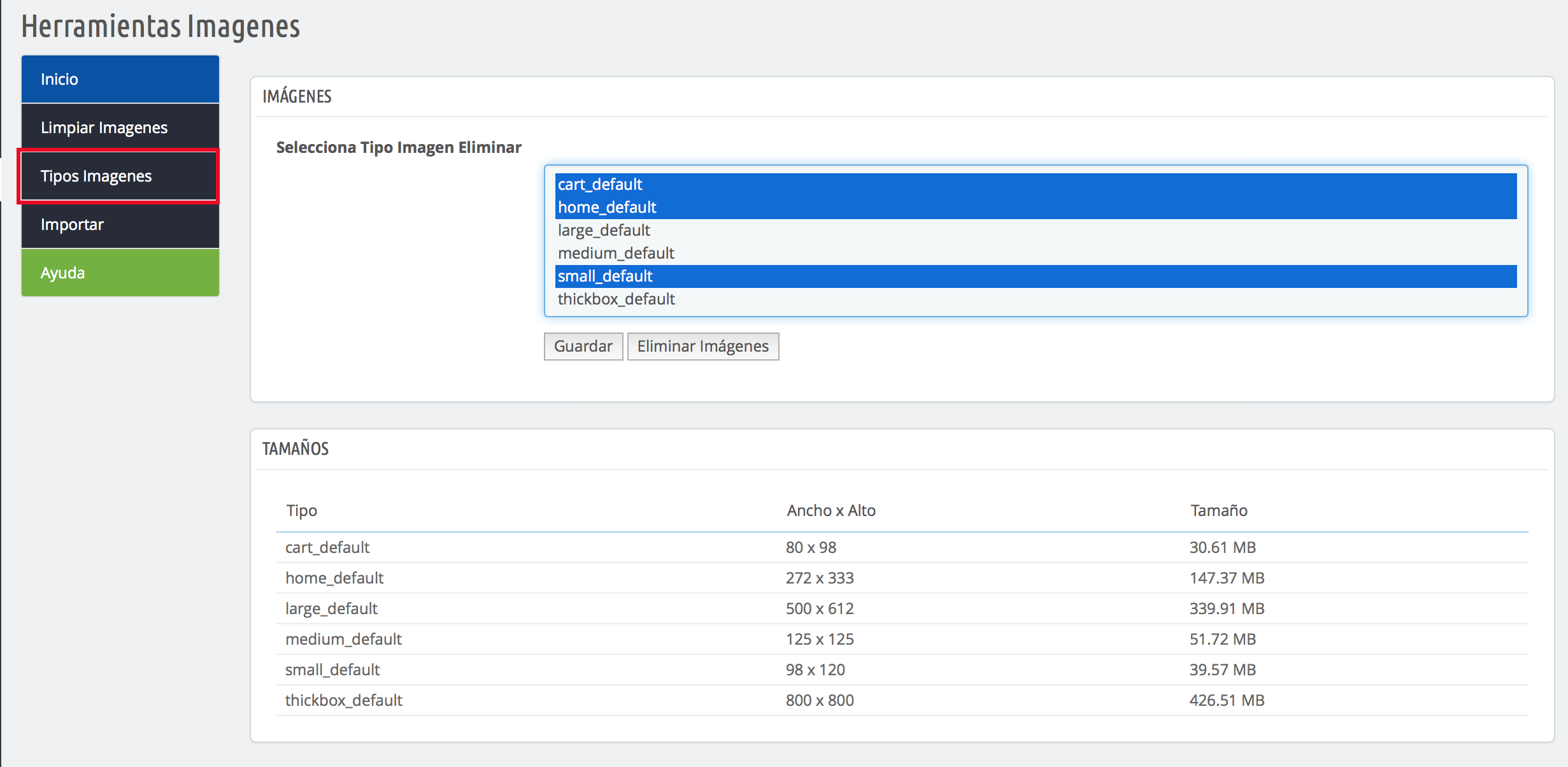para ahorrar espacio en tu servidor puedes eliminar las imagenes thickbox
