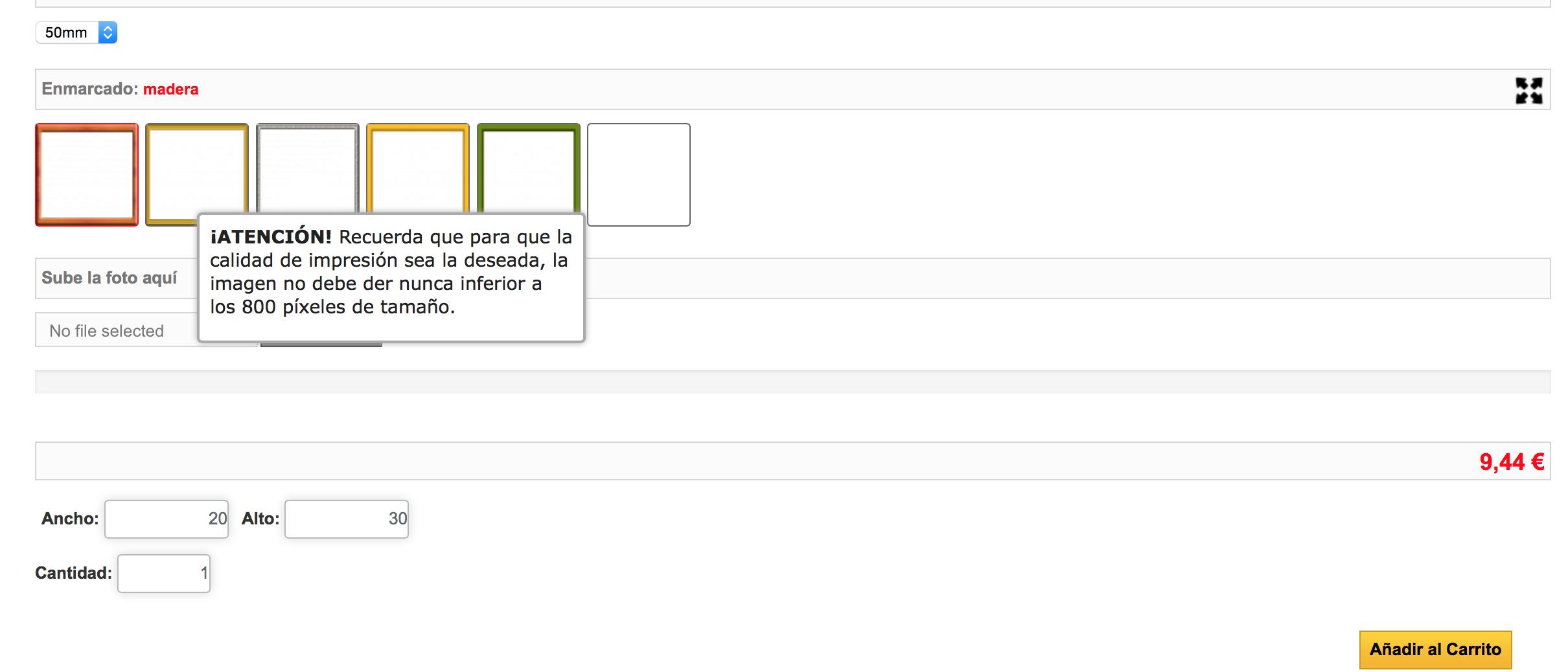 Ejemplo de ayuda mediante tooltip en un grupo