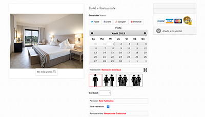 Allows online reservations with megaservices
