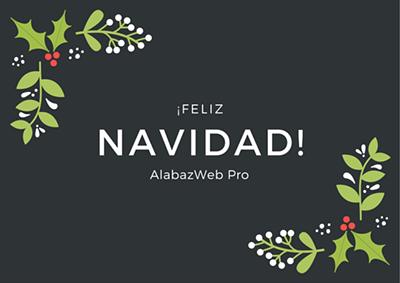 ¡El equipo de AlabazWeb Pro les desea Feliz Navidad!